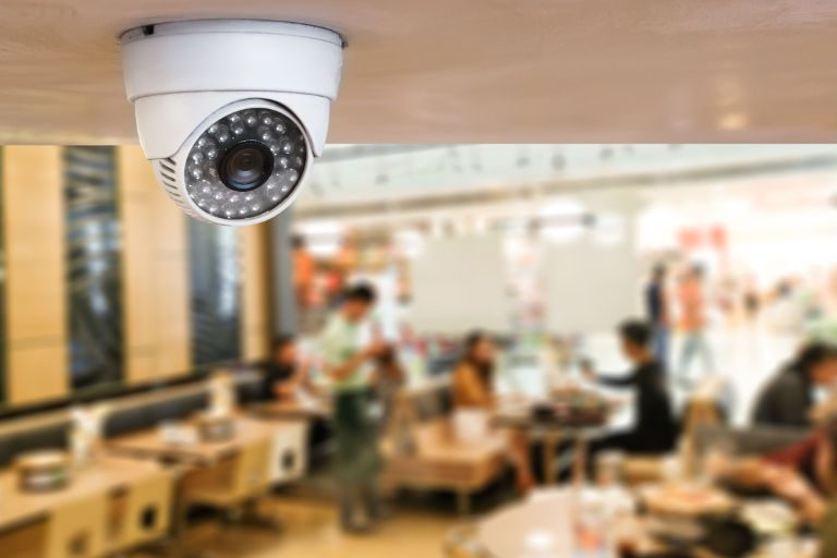 CCTV security system in restaurant